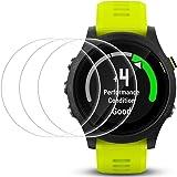 Pellicola Protettiva per Garmin Forerunner 935, AFUNTA 3 Pack[Antigraffi] [Senza Bolle] Pellicola Vetro Temperato Screen Protector Proteggi Schermo per Smartwatch