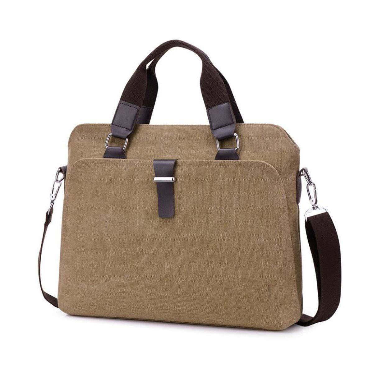 Etc Black Size: 38931cm Concise Work Color : Deep Khaki Color : Black Briefcase 2018 New Canvas Mens Messenger Bag Shoulder Bag Business Bag Suitable for Travel