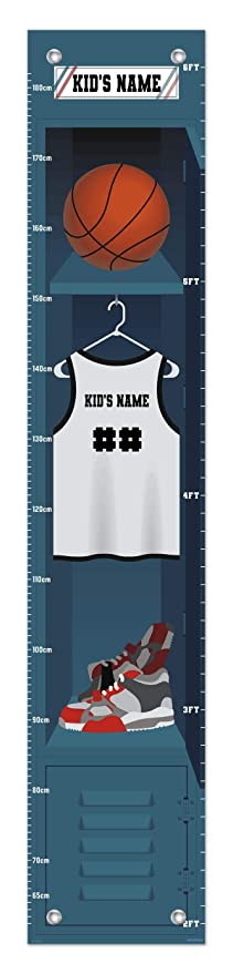 Sports Growth Chart Baseball Locker Custom Name Gifts for Kids Room Decor Personalized Growth Chart