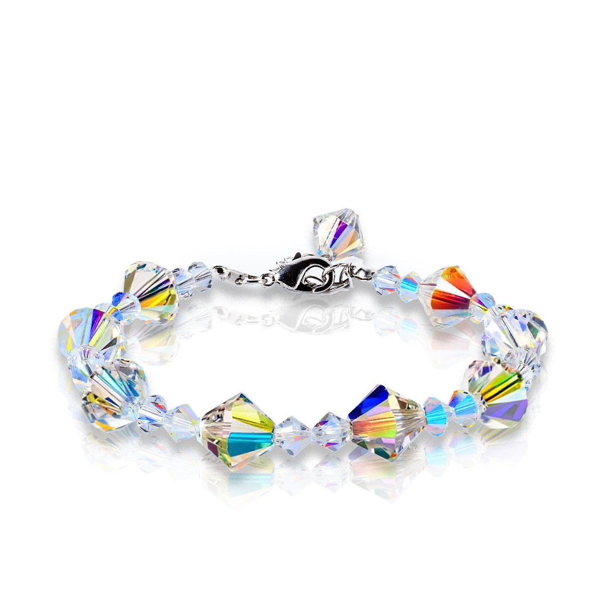 KesaPlan Brand Fashion Gift A Little Romance Crystal Charms Bracelets Series, Crystals from Swarovski (Triangle-Crystals)
