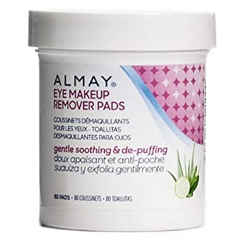 Almay Eye Makeup Remover Pads, Gentle, Soothing & De-Puffing 80 Pads (