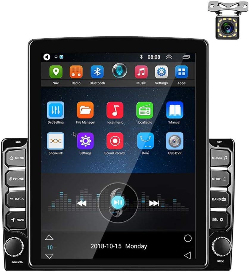 Android Radio de Coche GPS 2 DIN 9,7 Pulgadas Pantalla Táctil Vertical Bluetooth WiFi USB Radio FM Reproductor de Coche Estéreo Enlace Espejo + Cámara ...