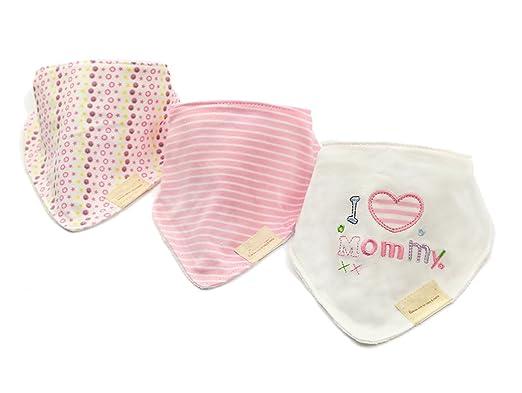 165 opinioni per CuteOn Baby Sbavare Bavaglini, Unisex 3-Pezzi Cotone Assorbente, Triangolo Bib