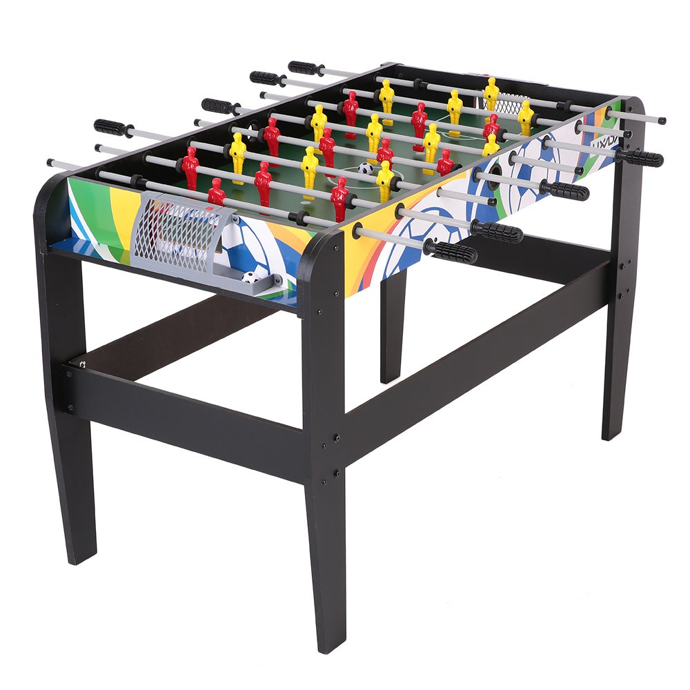Lixada 48'' Foosball Table Competition Sized Playoff Game Football Soccer Table Soccer Game for Kids Children