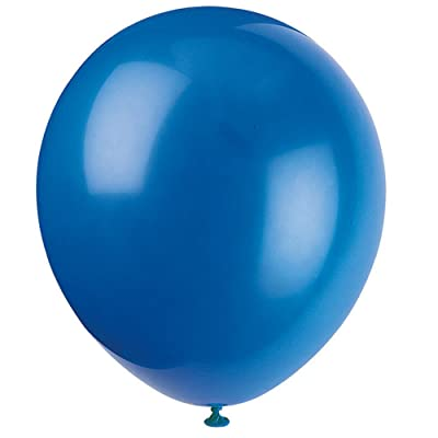 "Unique Industries 12"" Latex Royal Blue Balloons, 72ct - 52317: Kitchen & Dining"