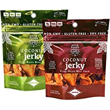 Jerky - Seva Foods - Coconut Jerky (1.5 oz) - Plant-Based Meat Snack - 100% Organic - Soy-Free - Gluten-Free - Mineral Dense - Non-GMO - Superfood - Travel Snack