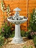 Smart Solar Ornamental Umbrella Fountain Water Feature