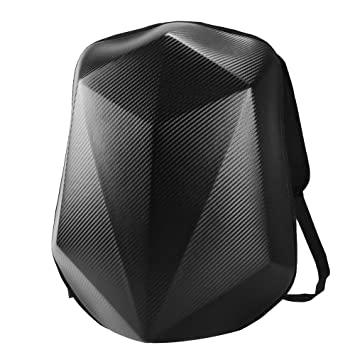 Carbon Fiber Riding Laptop Bag for Travelling Camping Cycling Motorbike Helmet Storage Bag H HILABEE Motorcycle Backpack Waterproof Hard Shell