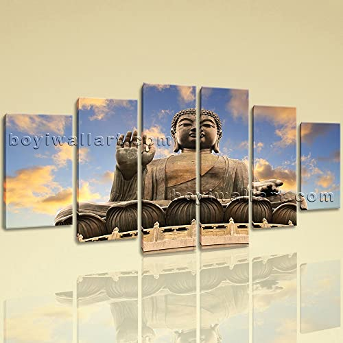 Amazon.com: Extra Large Feng Shui Canvas Art Buddha Wall Dining Room ...