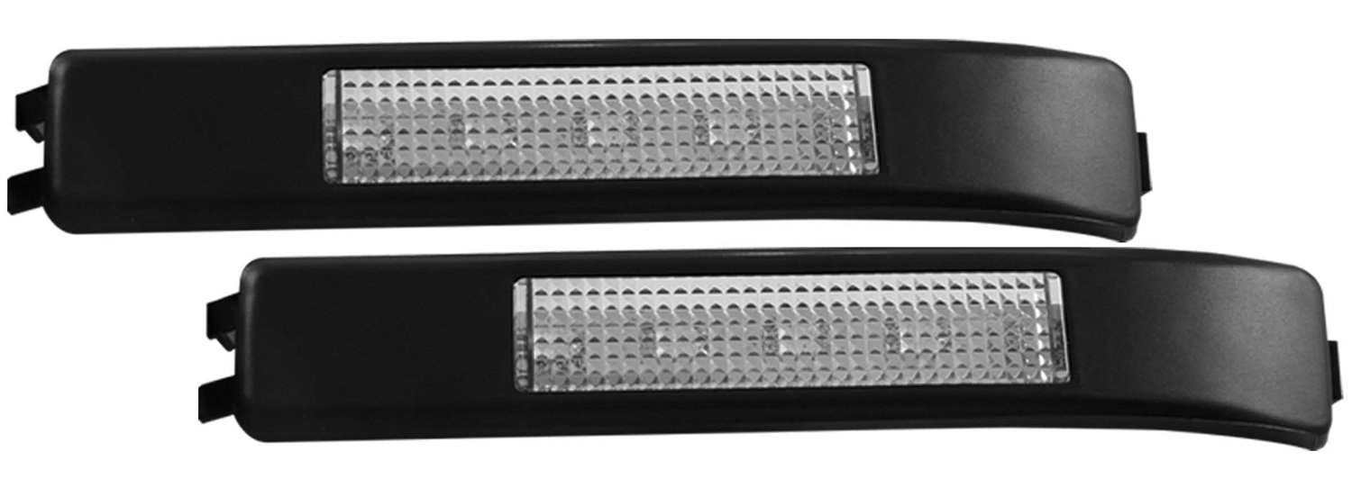AnzoUSA 861115 Clear//Amber LED Mirror Turn Signal Light Lens for Ford F-150//Raptor Pair