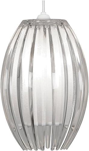 Imagen deOaks Lighting Shimna - Lámpara de techo con difusor y láminas (acrílico), transparente