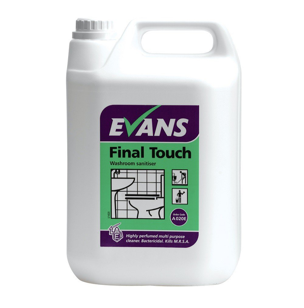 Evans Vanodine BCV001-5 Final Touch Washroom Sanitizer, 5 L (Pack of 2)
