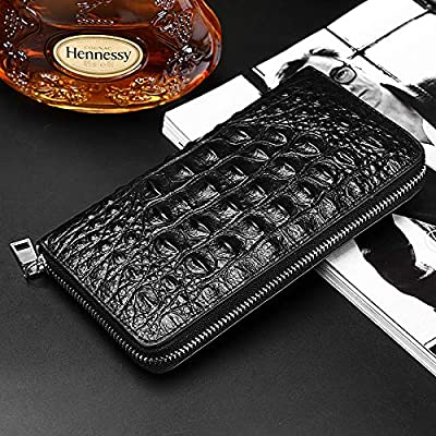 Rangren Genuine Leather Business Mens Clutch Bag Organizer Handbag Phone Card Carrier Purse Long Wallet