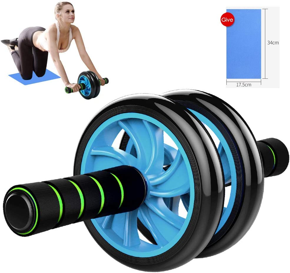 Ab Roller Wheel – Sturdy Ab Workout Equipment for Core Workout – Ab Exercise Equipment as Abdominal Muscle Toner – Ab Exercise Equipment Used as at Home Workout Equipment for Both Men Women