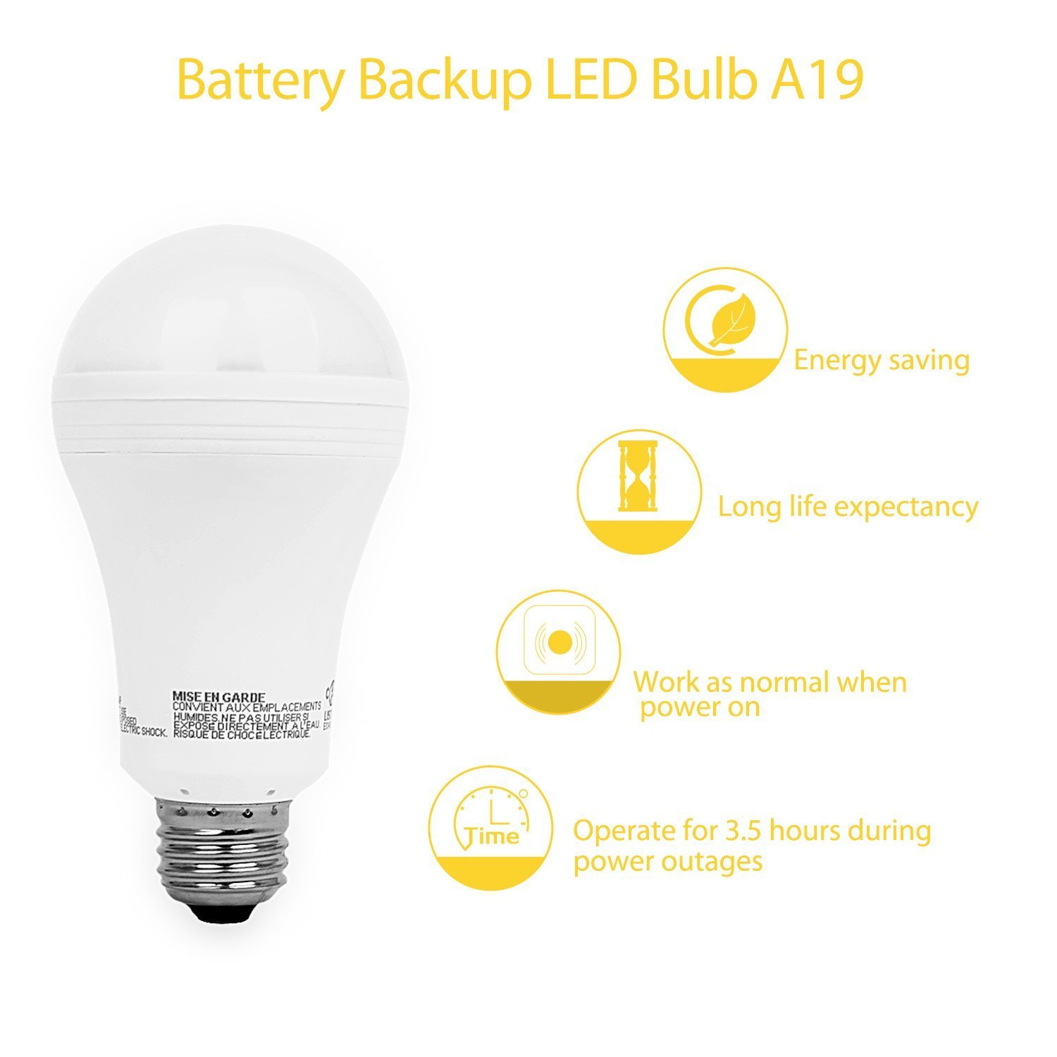 Sengled LED Emergency Light Bulb with Built-in Rechargeable Battery ...