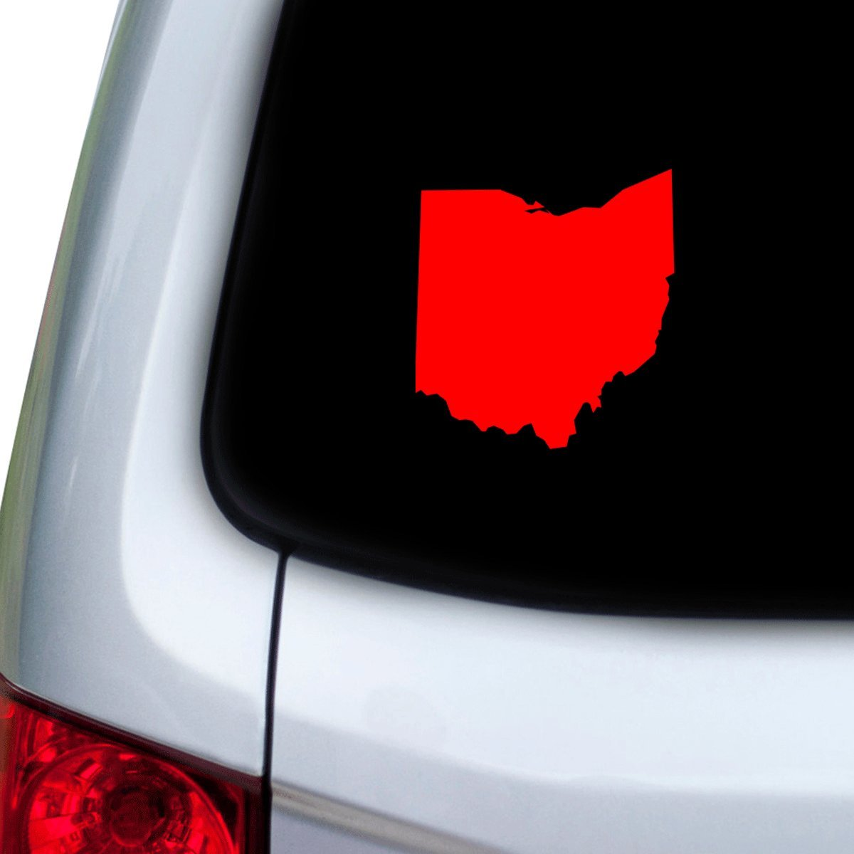Hoods Red StickAny Car and Auto Decal Series Ohio OH Sticker for Windows Doors