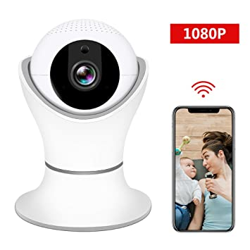 Set of 2 Black DophiGo Set of 2 1080P HD Dome 360/° Wireless WiFi Baby Monitor Safety Home Security Surveillance IP Cloud Cam Night Vision Camera for Baby Pet Android iOS apps
