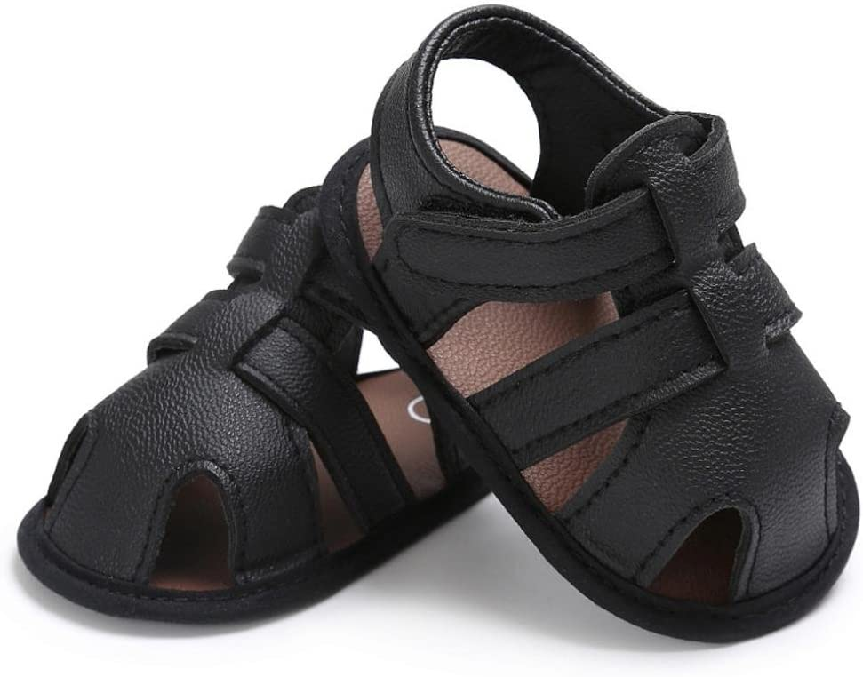 Inches:4.3Age:0~6 Month, Brown Amiley Summer Spring Baby Toddler Hook /& Loop Boys Cute Crib Shoes T-Tied Soft Prewalker Soft Sole Anti-Slip Newborn Shoes Sandals