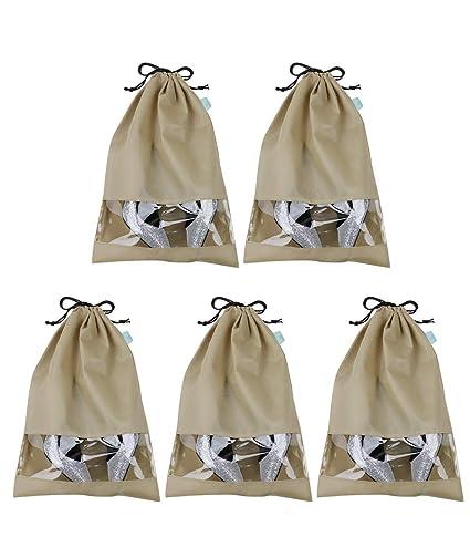 Bolsas de almacenamiento de calzado de temporada no tejidas en clóset, ático, estante, bolsas de almacenamiento de zapatos de viaje, color caqui, ...