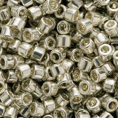 - Miyuki DB035 Delica Bead, 7.2g, Galvanized Silver