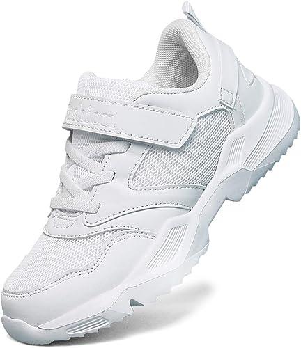 LakeRom Girls White Sneakers for Girls