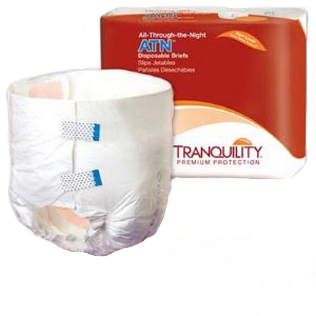 Tranquility ATN Disposable Briefs 24-32'', Small, 100 Per Case