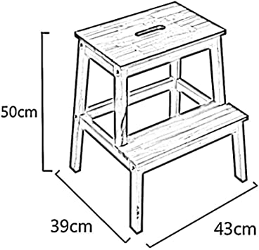 GOG Taburete, madera maciza Taburete de 2 pasos Taburete de cambio Cambio de banco de zapatos Taburete de paso Taburete alto y bajo Escalera de madera Escalera de taburete Escaleras,Blanco: Amazon.es: Bricolaje