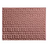Fasade Easy Installation Terrain Argent Copper Backsplash Panel for Kitchen and Bathrooms (18'' x 24'' Panel)