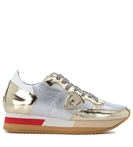 Philippe model Tropez opaque and gold leather sneaker women's in To Buy Recommend Sale Online Newest Online Footlocker For Sale Exclusive S9YC0