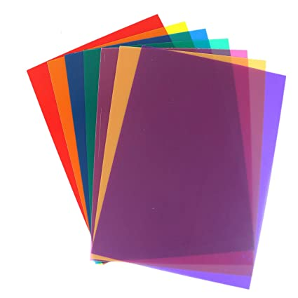 Amazon Com Buorsa Pack Of 7 Transparency Color Film Plastic Sheets