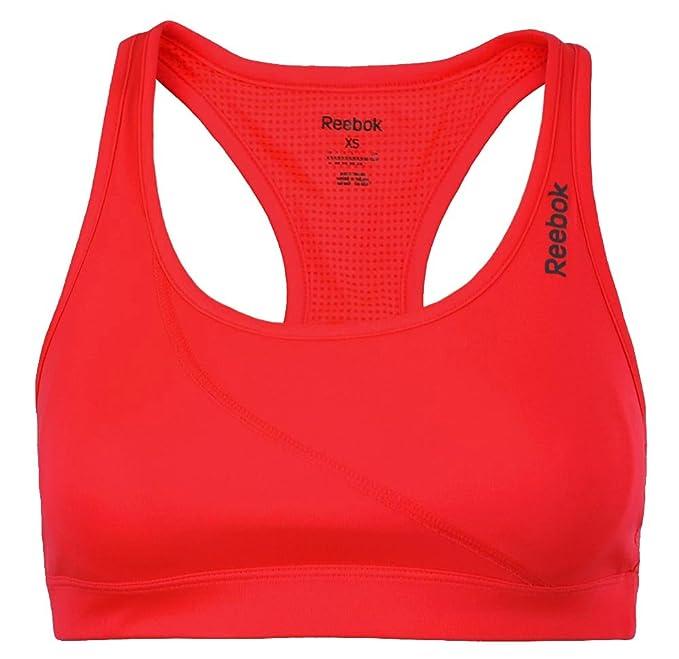 Reebok RE Bra Mujeres BH Deporte Fitness reflectividad PlayDry Formación NeoChe, Tamaño:XS