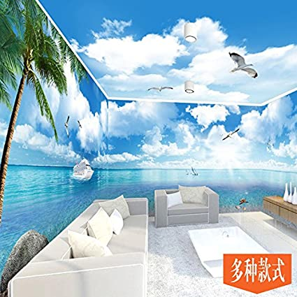 Huang Ya Hui Mural Tv Wall Lantian Baiyun Beach Wallpaper