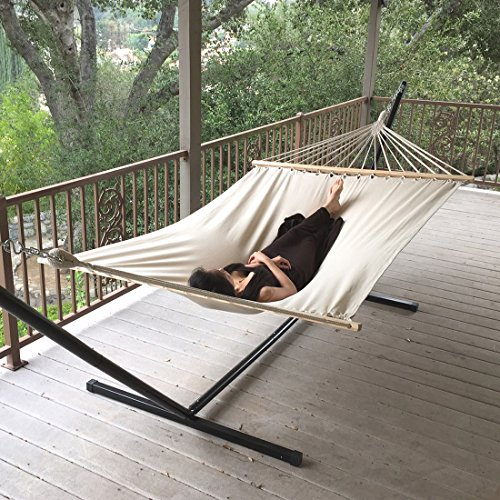 Hammock -New Outdoor Swing Chair Hanging Camping Cotton Double Bed Patio Canvas (Discount Timber Outdoor Furniture Melbourne)