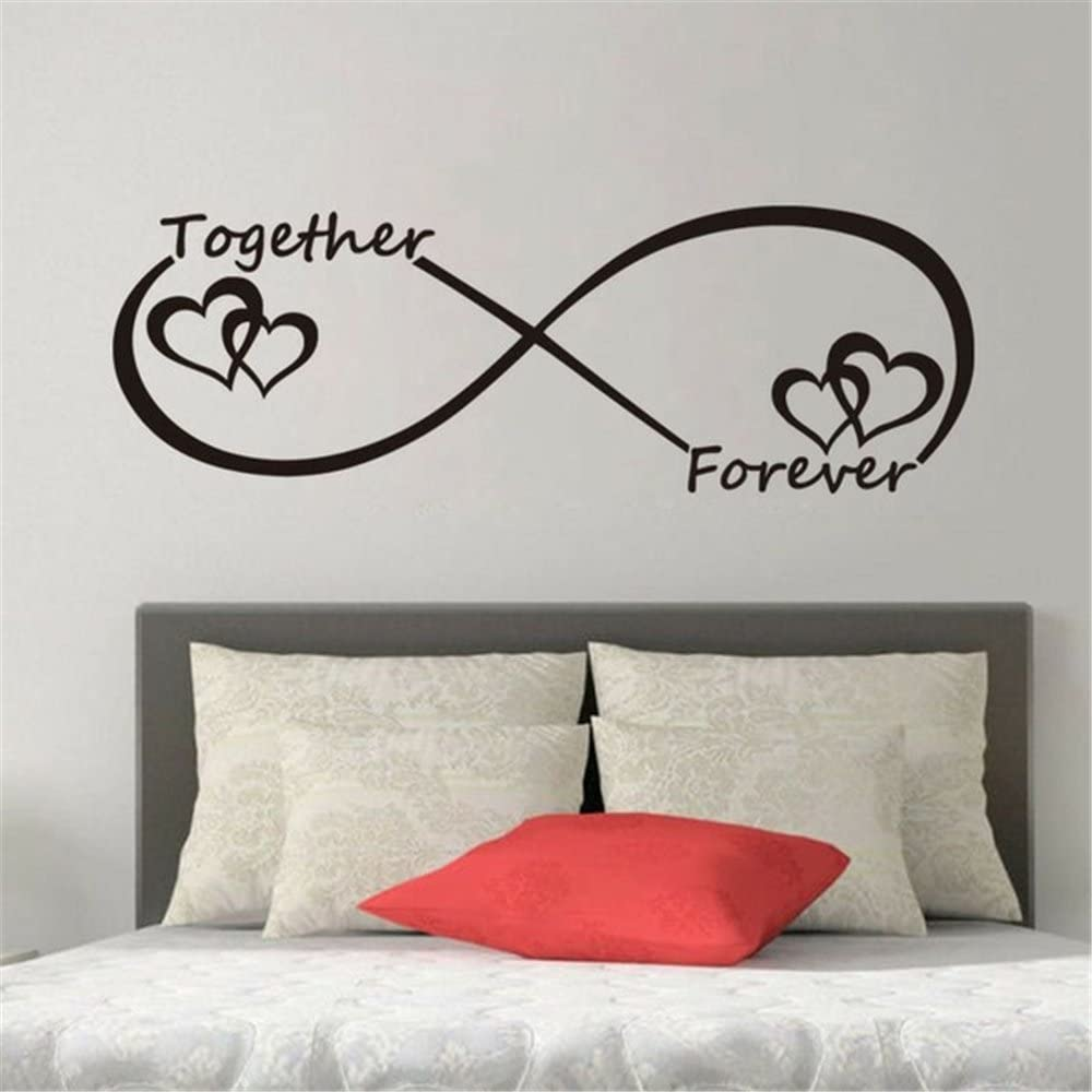 Amazon Com 25 Home Decor Vinyl Removable Wall Stickers Mural Decal Art Family Decals Together Forever Heart Types Infinity Symbols Room Bedroom Home Kitchen