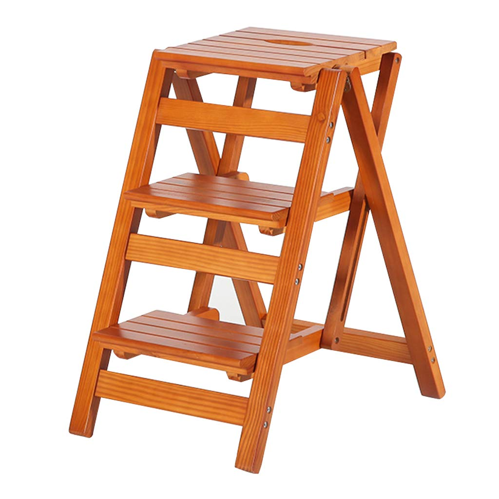 Excellent Amazon Com Wooden Folding Step Stool Stepladder Portable Caraccident5 Cool Chair Designs And Ideas Caraccident5Info