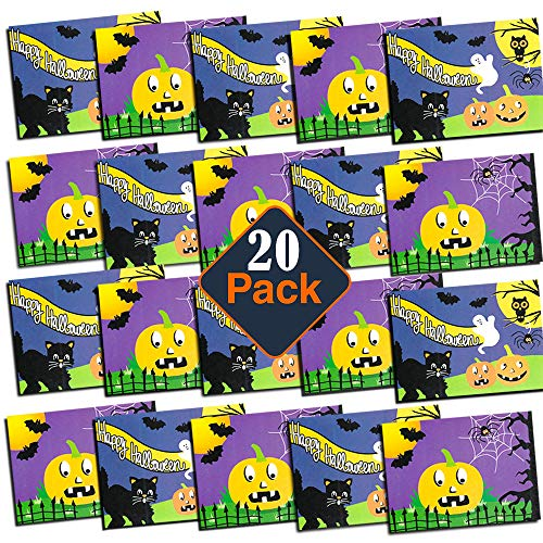 Halloween Party Favors Set For Kids Toddlers Classroom -- Pack of 20 Halloween Coloring and Activity Books with Puzzles, Mazes and Games (Halloween Goody Bag Toys) -