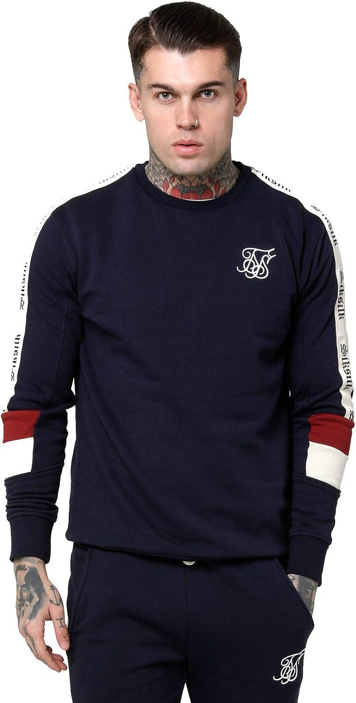 SIKSILK Retro Panel Tape Crew Sweater (M)