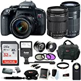 Canon T7i w/ 32GB 4 lens KIt (18-55mm, 55-250mm, 58mm Wide Angle & Telephoto)