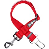 Blueberry Pet 19 Colors Classic Dog Seat Belt Tether for Dogs Cats, Rouge Red, Durable Safety Car Vehicle Seatbelts…