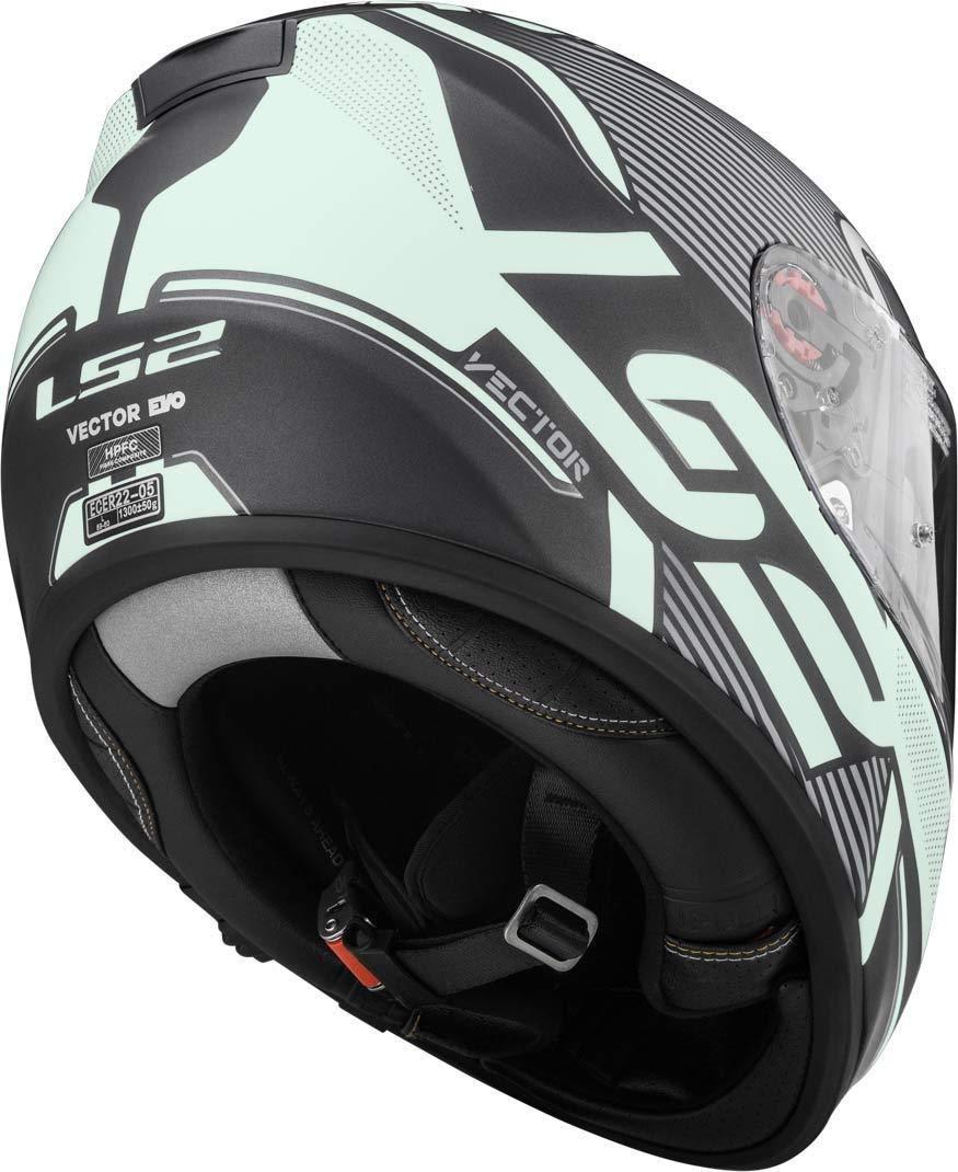 XXL Matt black LS2/Casco Moto FF397/vector FT2/Orion