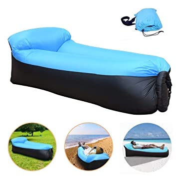 Sofa Hinchable Playa Tumbona Inflable del Aire del Ocioso de Playa ...