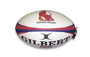 e7bea7a9a73c3 BALÓN RUGBY ENTRENAMIENTO SELECCIÓN ESPAÑOLA TALLA 5 GILBERT  Amazon.es   Deportes y aire libre