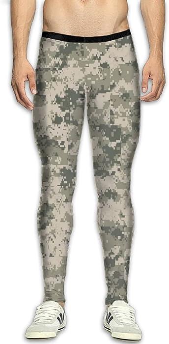 734db62748 ... Army Pixel Camouflage 3D Print Fitness Sports Tight Leggings. Doppyee  DOPPYENG Menfs Compression Pants Baselayer Running, Cycling, Sports,  Training, ...