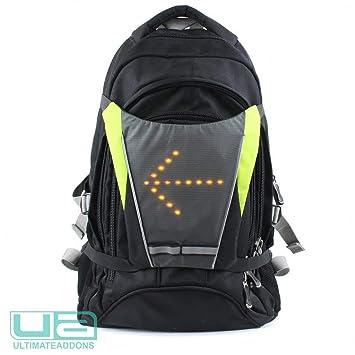 Large Black//Yellow Jocca Unisexs Bike Vest with Light Indicators Led