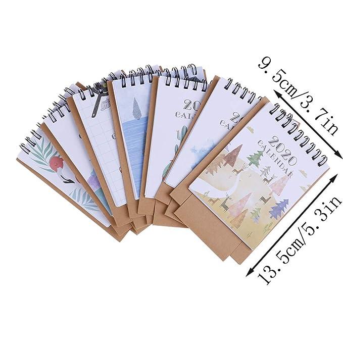 Amazon.com: TUANTUAN - Calendario de escritorio con diseño ...