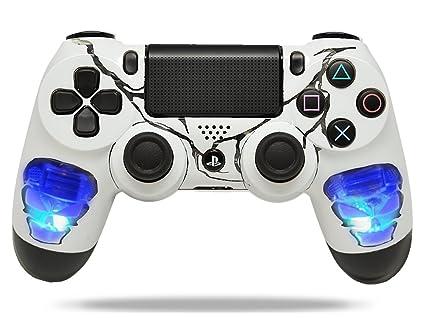amazon com skulls blue ps4 custom un modded controller exclusive