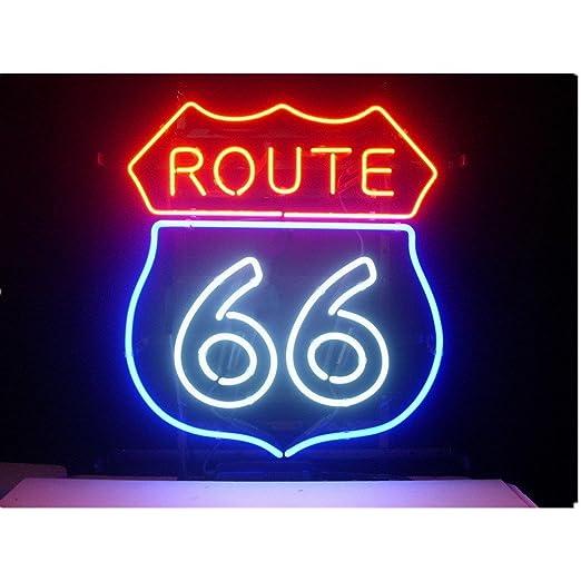 Ruta 66 Real Cristal Luz de Neón Sign la cerveza Bar Pub ...