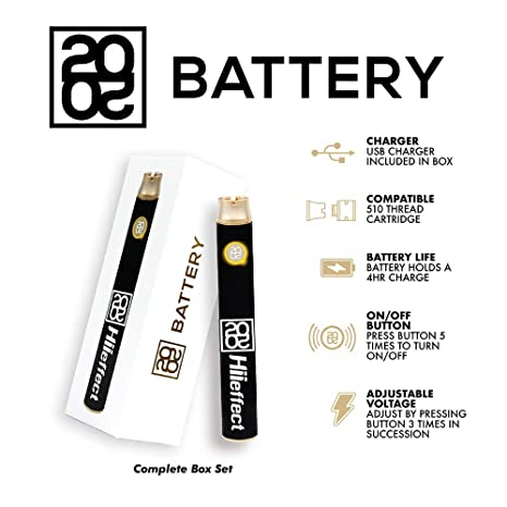2020 Hiieffect Pen Battery for 510 Thread Cartridge with USB Charger
