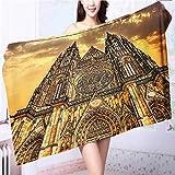 also easy Luxury Plush Bath Towel Church Catholic Gifts Tower Prague High Absorbency L39.4 x W19.7 INCH