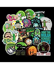 100pcs Rick and Morty Stickers -Waterproof Vinyls Sticker for Travel Case, Laptops, Mugs, Cars, Bicycles, Best DIY Stickers and Decorations